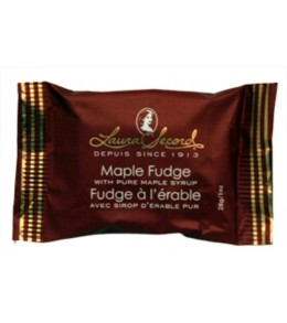 Laura Secord Pure Maple  Fudge Single Wrap 28g. 24/box
