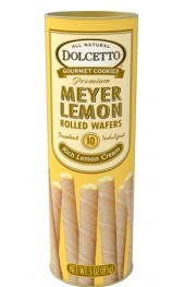 Meyer Lemon Cream Filled Wafer Rolls   85g