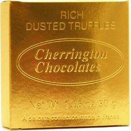 Gold Metallic Square Box Classic Truffles 34g