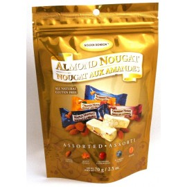 Alnmond Nougat Assorted Flavours 70g