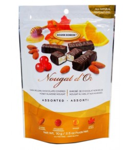 Nougat d'Or Chocolate Coated Assorted Nougat 70g