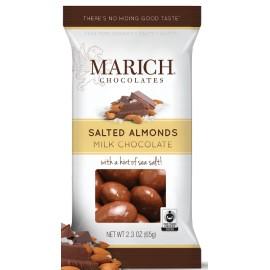 Milk Chocolate Sea Salt Almonds  60g
