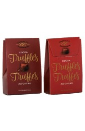 Classic Cocoa Truffles  17g 2pc. Red/Burgundy Tote