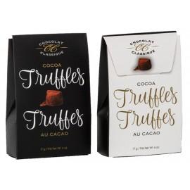 Classic Cocoa Truffles  17g 2pc. Black/White Tote