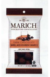 Dark Chocolate Barrel Aged Bourbon Caramels   60g.