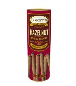 All Natural  Hazelnut Cream Filled Wafer Rolls   85g