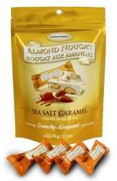 Sea Salt Caramel Crunch  Almond Nougat  70g Pouch