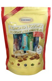 Assorted Soft and Crunchy Almond Nougat  350g.