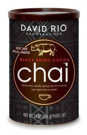 DAVID RIO BLACK RHINO COCOA CHAI  14OZ TIN ( 398G)  6/CASE