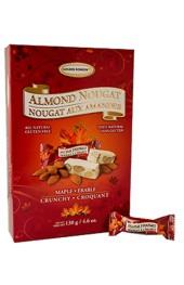 Crunchy Maple Almond Nougat 130g. Box