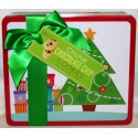 Christmas Tree Collector Tin Chunk Chocolate Chip Cookies  170g.