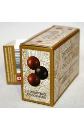 C2C Assorted Chocolates  Truffles  3pc.- 30g. Mini  Box   WITH Bottle Hanger Sea Salt Caramel, Hazelnut, Dbl Dark