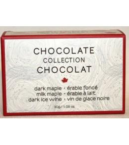 C2C Assorted Chocolates  Truffles  3pc.- 30g. Mini  Box  Milk Maple, Dark Maple, Dark Ice Wine