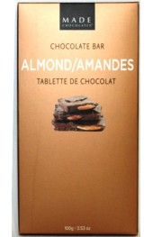 Almond Chocolate Bar 100g. Boxed