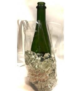 Wine Bottle Ice Bags - Clear Plastic