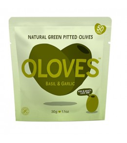 Olympos Pitted Greek Olives  30G.  Mini Pouch