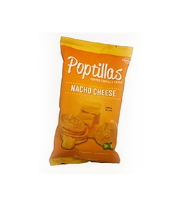 Poptilla Nacho Cheese Popped Tortilla Chips  170g.