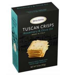 Dolcetto Tuscan Crisps Rosemary Olive Oil 150g.