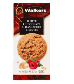 White Chocolate & Raspberry Biscuits  150g.