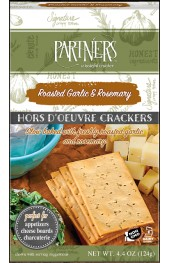 Roasted Garlic & Rosemary  Hors D'Oeuvre Cracker  142g.