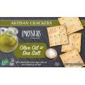 Olive Oil and Sea Salt Artisan Crackers  57g.