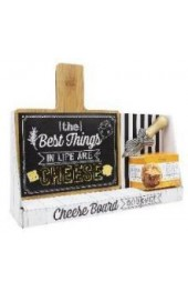 Holiday Gift - Bamboo Cheese Board w/ Spreader & Cheese Ball Mix.