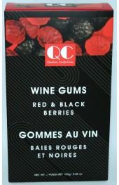 QC Wine Gums 2 Sided Box 125g.  Red/Black