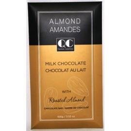 QC Milk w/ Roasted Almonds Chocolate Bars 100g. Envelope Box