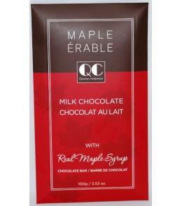 QC Milk w/ Real Maple Syrup Chocolate Bars 100g. Envelope Box