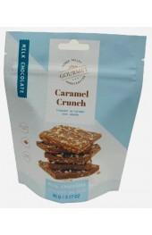 MILK CHOCOLATE CARAMEL CRUNCH  90G. POUCH 20/CASE