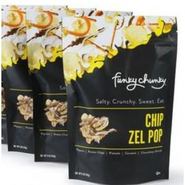 Funky Chunky 5oz. Chip-Zel Popcorn & Potato Chips - Pouch 142g.