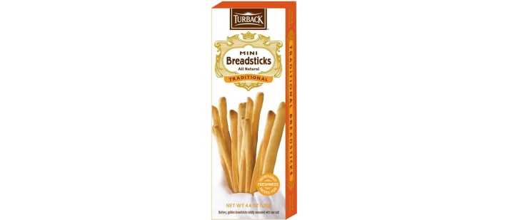 TURBACK CRACKERS AND BREAD STICKS